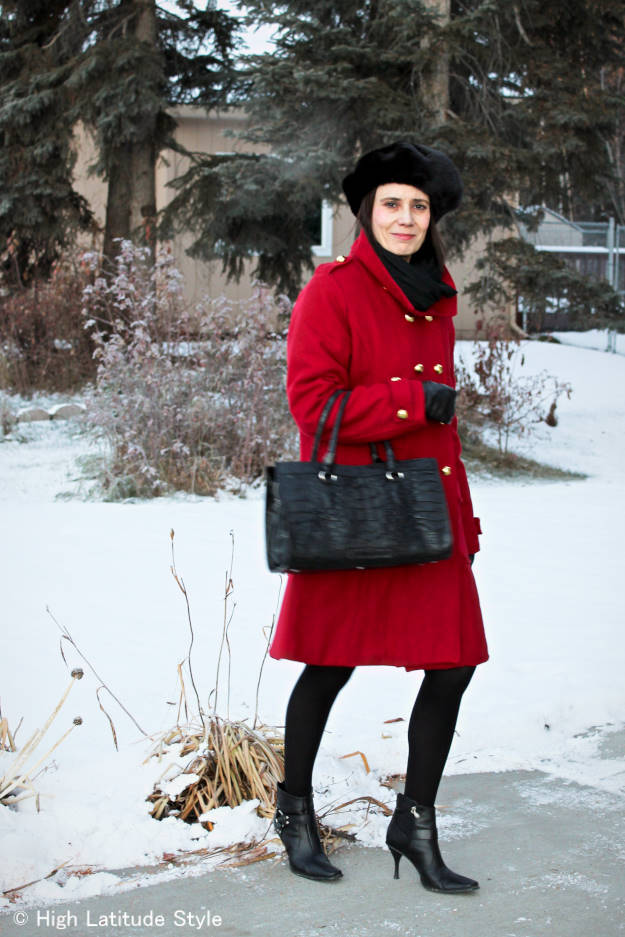 mature women in styled outerwear