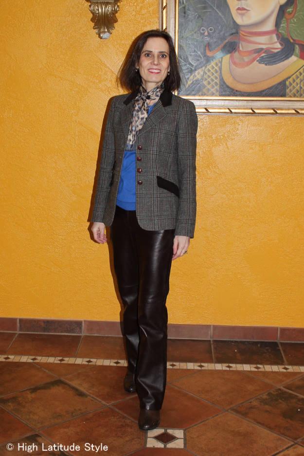 #over40fashion #over50fashion menswear inspired blazer for work | High Latitude Style | http://www.highlatitudestyle.com