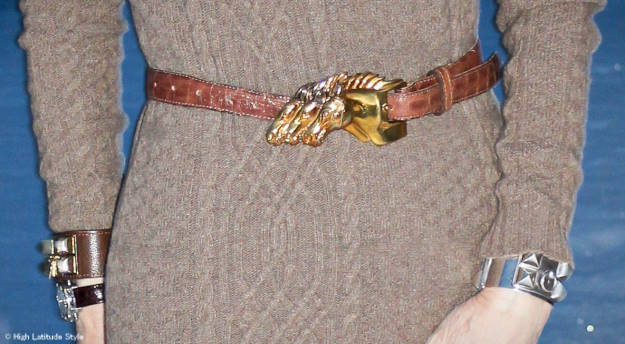 Kieselstein Cord belt and Collier de Chien bracelet