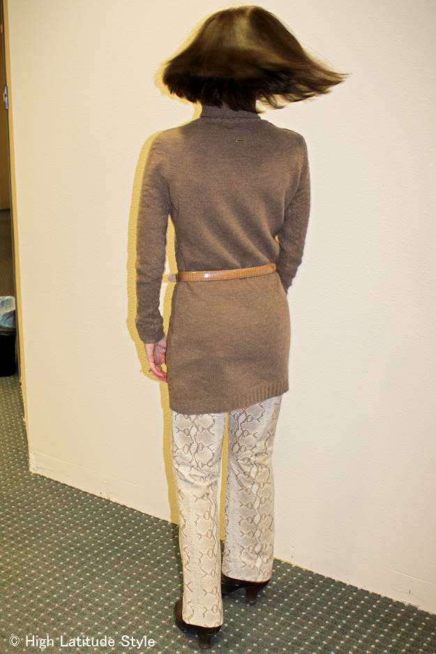 #over40 dress over pants | High Latitude Style | http://www.highlatitudestyle.com