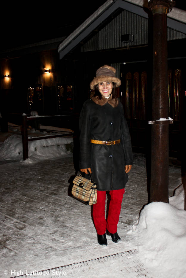 #over40fashion how to wear hats: winter outerwear