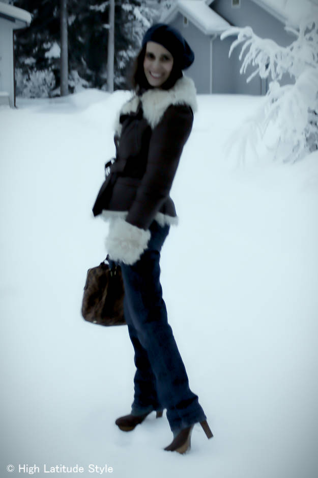 #fashionover40 casual winter outerwear #AndrewMarc @ High Latitude Style @ http://www.highlatitudestyle.com