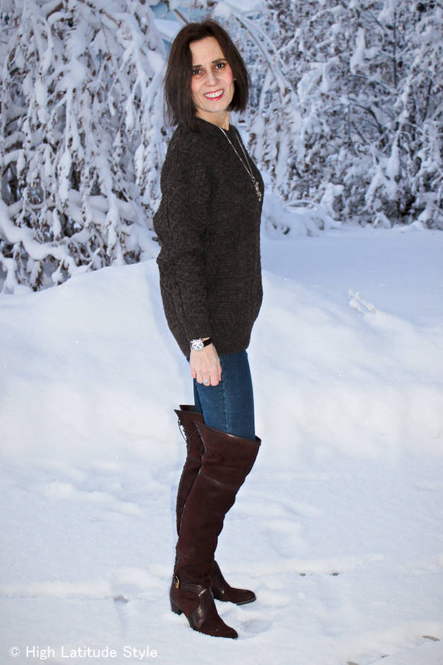 #over40fashion weekend look with over-the-knee boots  | High Latitude Style | http://www.highlatitudestyle.com