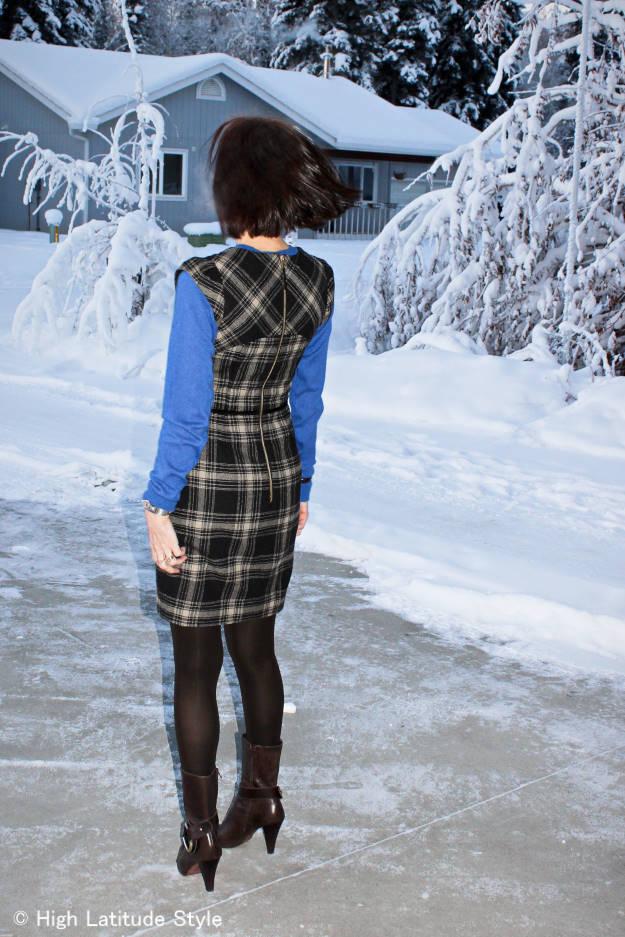 #over40 plaid sheath dress | High Latitude Style | http://www.highlatitudestyle.com