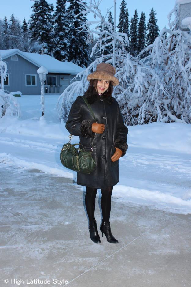mature winter outerwear look