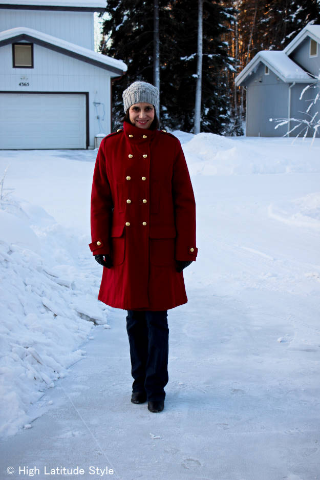 #styleover40 woman in winter outwear