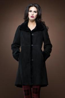 ML Furs Spanish Noir mid-length shearling coat