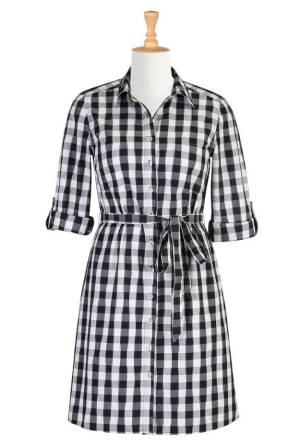 Spring 2015 trend gingham dress   High Latitude Style   http://www.highlatitudestyle.com   http://shrsl.com/?~7y3c