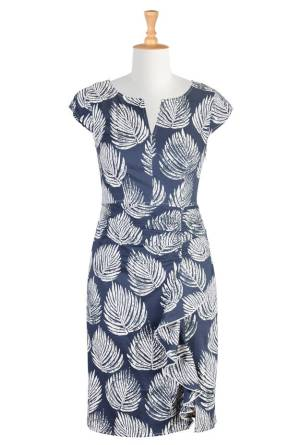 #over40and50fashion 2015 spring trend: blue and white dress | High Latitudes Style | http://www.highlatitudestyle.com | http://shrsl.com/?~7y3l