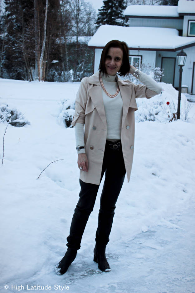 #over40 trench coat worn as layer | High Latitude Style | http://www.highlatitudestyle.com