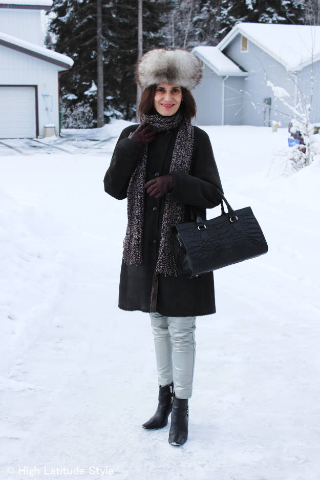 #over40 outerwear with DIY scarf    High Latitude Style   http://www.highlatitudestyle.com