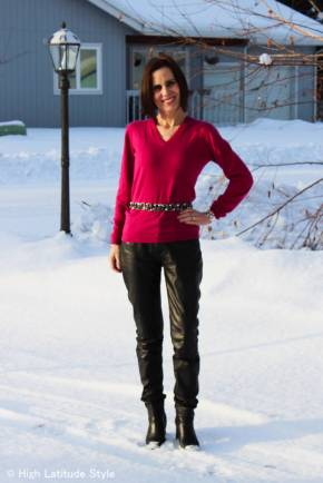 #over40fashion outfit for gallery visit | High Latitude Style | http://www.highlatitudestyle.com