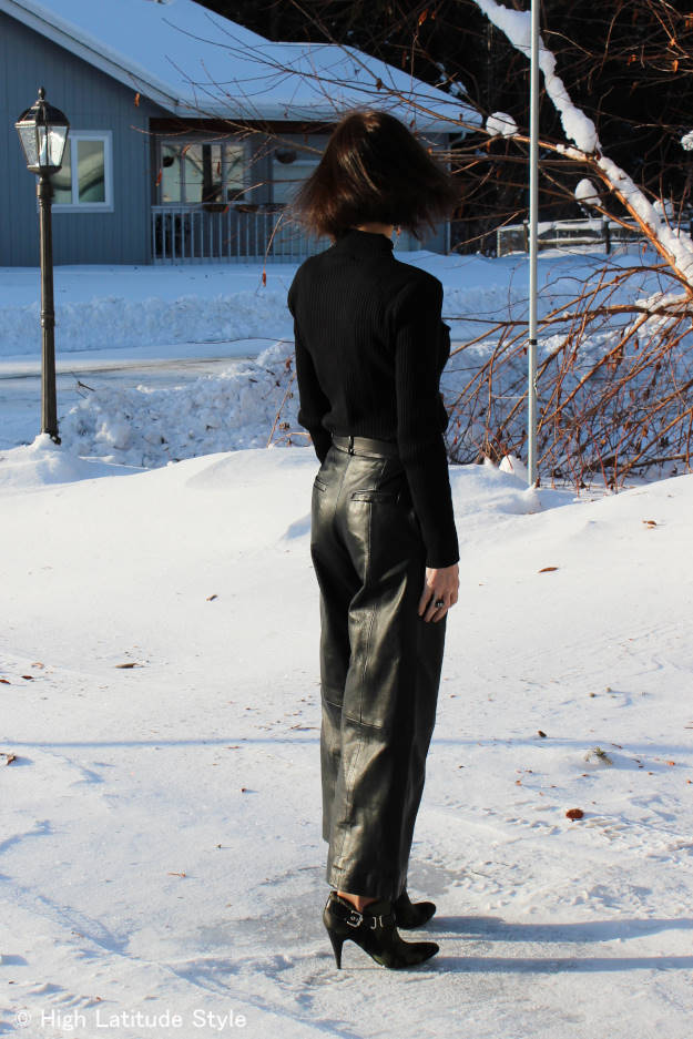#over40fashion leather culottes  | High Latitude Style | http://www.highlatitudestyle.com