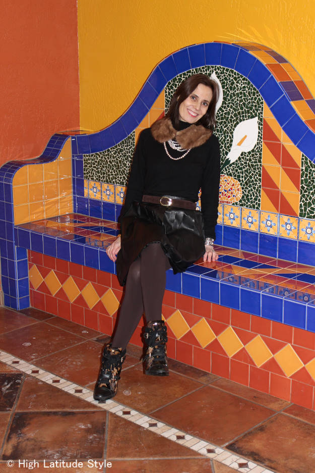 #over50fashion wearing brown and black together  | High Latitude Style | http://wp.me/p3FTnC-30U