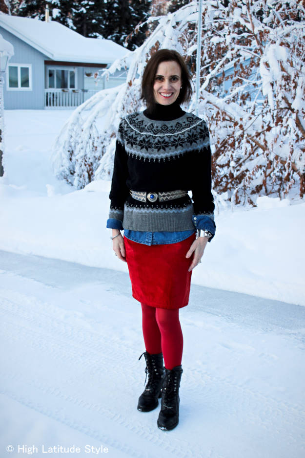 #over40and50fashion outfit combining various ethnic pieces | High Latitude Style | http://www.highlatitudestyle.com