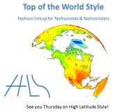 #linkup #fashionlinkup #over40fashion | Top of the World Style linkup party logo | High Latitude Style | http://www.highlatitudestyle.com