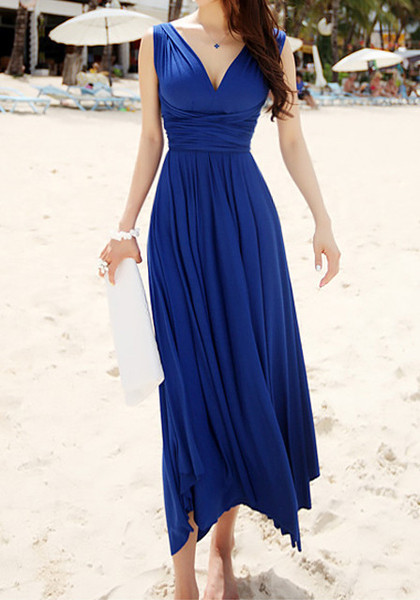 How to dress appropriately for a beach wedding over 40 for Blue beach wedding dresses