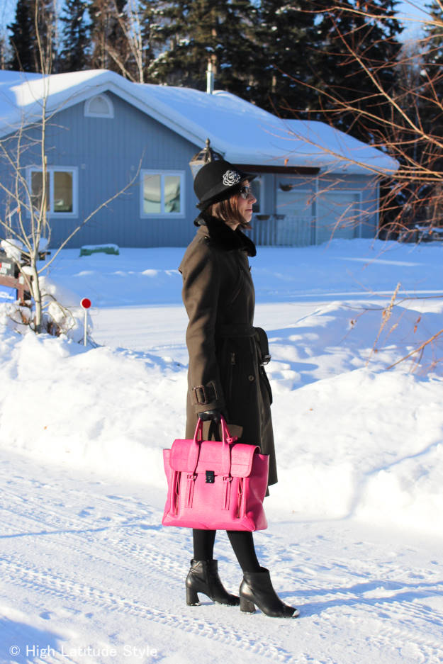 #over40 #over50 loden coat with hat | High Latitude Style | http://www.highlatitudestyle.com
