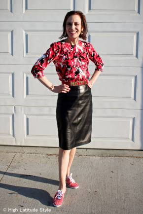 #over40 #over50 wearing #Keds and a skirt | High Latitude Style | http://www.highlatitudestyle.com