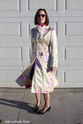 #over40 #over50 spring floral print coat | High Latitude Style | http://www.highlatitudestyle.com
