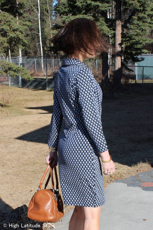 #review #HSN sideview of Samantha Brown travel wrap dress | High Latitude Style | http://wp.me/p3FTnC-3cR