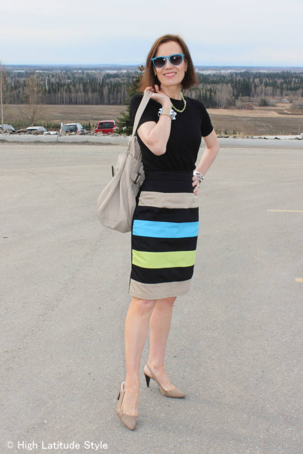 #fashionover40 woman in work outfit