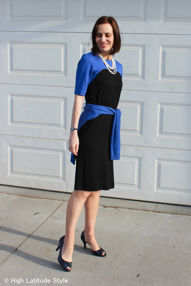 #over40 #over50 work outfit with pearls | High Latitude Style | http://www.highlatitudestyle.com