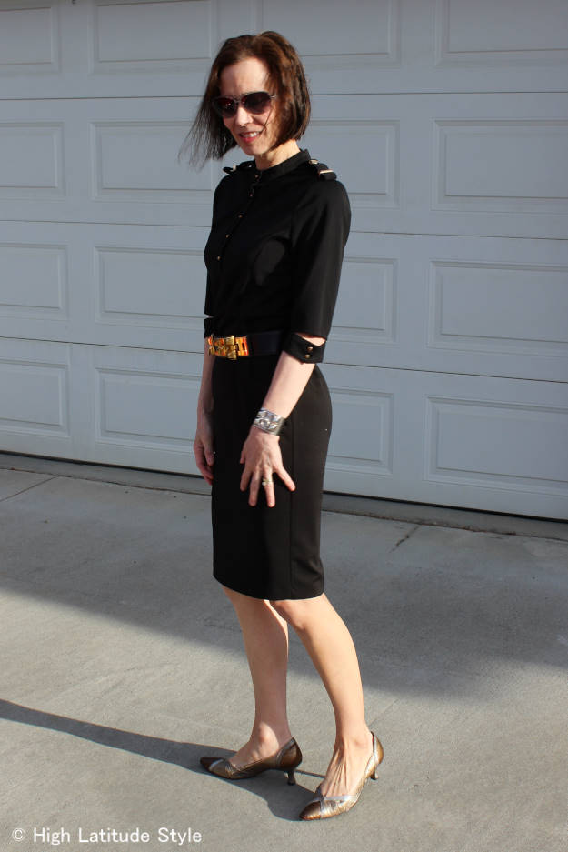 40+ woman in a LBD
