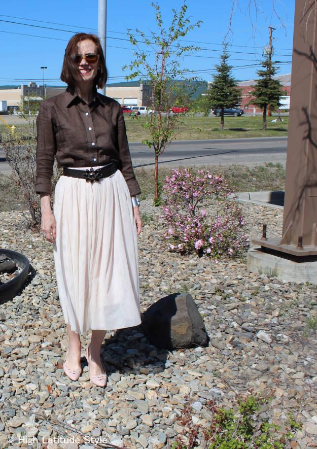 styleover50 tulle skirt over 40