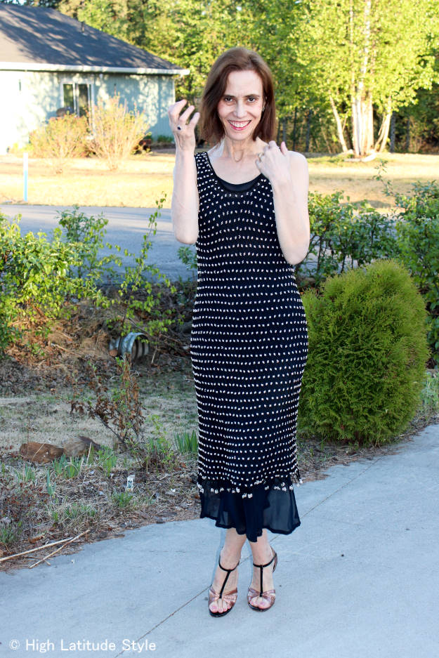 #over40 #over50 mesh dress | High Latitude Style | http://www.highlatitudestyle.com