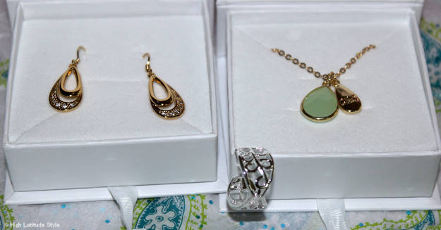 #CateandChloe earring, pendant necklace and adjustable ring c/o Cate & Chloe | High Latitude Style | review and promo code at http://wp.me/p3FTnC-3ha