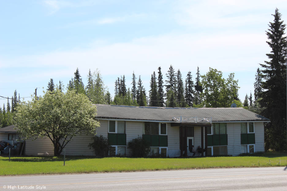 #Alaska Multiplex affected by permafrost. The house conducted heat to the ground thawing the permafrost underneath. The water run off leading over time to the deformation of the roof (and house)