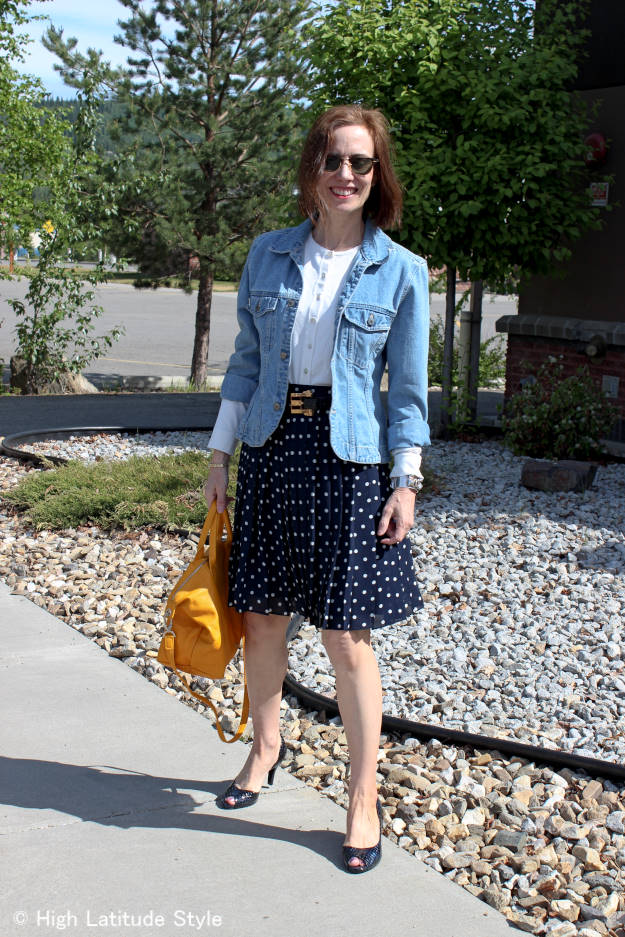 fashionover40 chic look for evening sightseeing after a conference