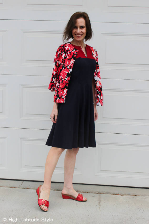 fashionover50 woman in commencement guest look