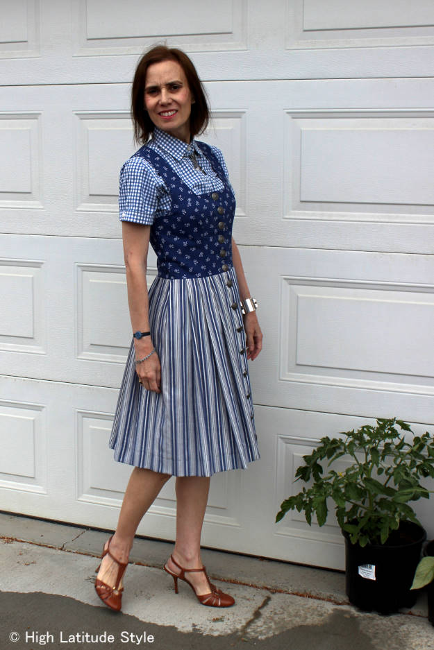 #fashionover40 #fashionover50 mixing three pattern in one outfit | High Latitude Style | http://www.highlatitudestyle.com