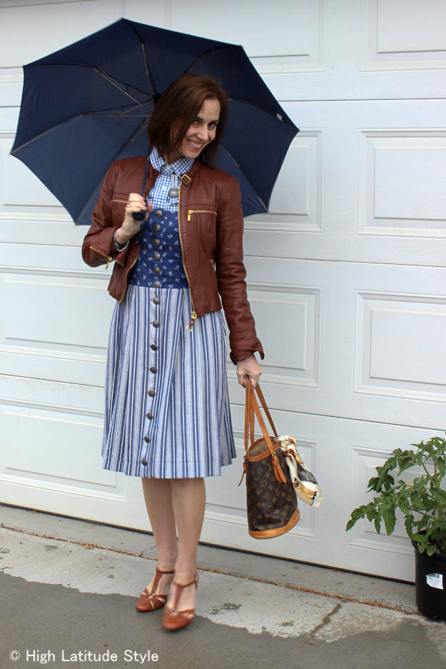 #over40fashion #over50fashion outfit for a rainy summer day | High Latitude Style | http://www.highlatitudestyle.com