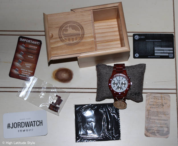 #JORDWATCH wooden Jord stop watch chronograph with instructions | High Latitude Style | http://www.highlatitudestyle.com