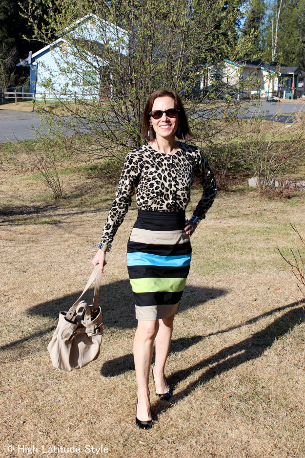 #eShakti #over40 #over50 work outfit | High Latitude Style | http://www.highlatitudestyle
