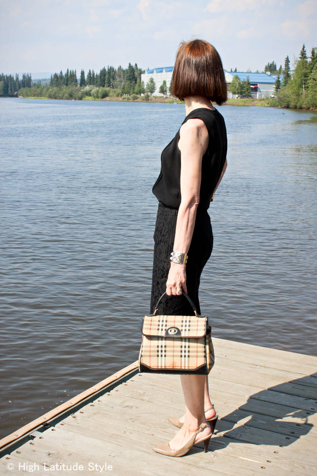 #fashionover40 #fashionover50 work outfit in black | High Latitude Style | http://www.highlatitudestyle.com