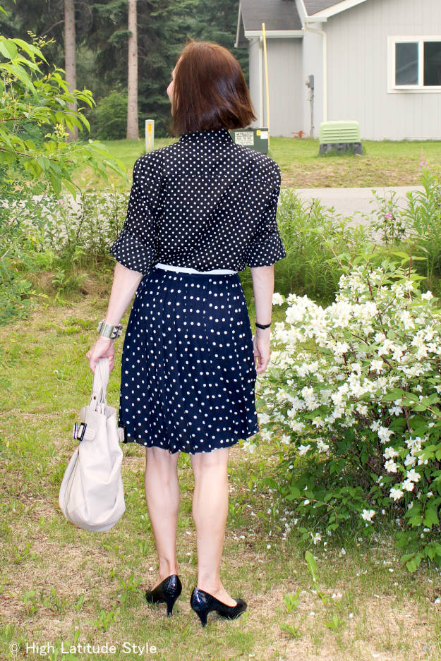 #fashionover40 #fashionover50 mixing polks dots over 40 | High Latitude Style | http://www.highlatitudestyle.com