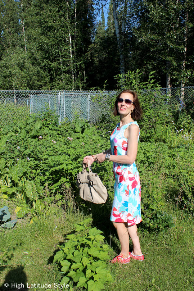 #fashionover40 #over50fashion floral print dress with Keds for casual Friday