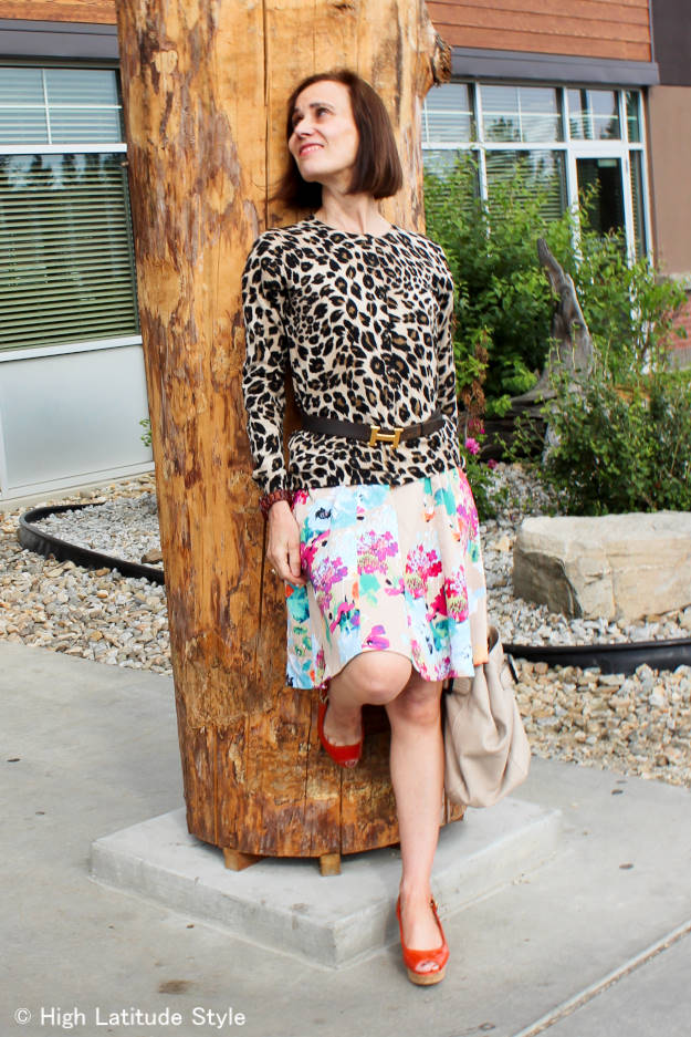 #fashionover40 #fashionover50 How to wear animal print over 40: example leopard print @ High Latitude Style @ http://www.highlatitudestyle.com