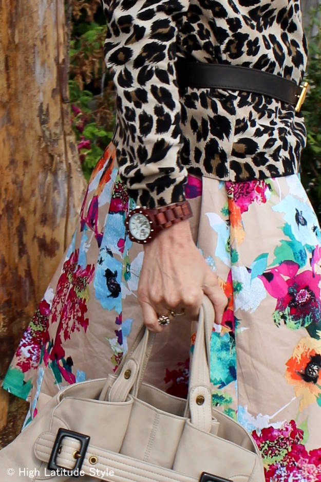 #fashionover50 mature woman with leopard and floral prints | High Latitude Style | http://www.highlatitudestyle.com