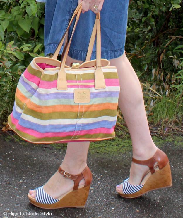 #Coach-bag Dr. Scholl wedges and Coach bag @ http://www.highlatitudestyle.com