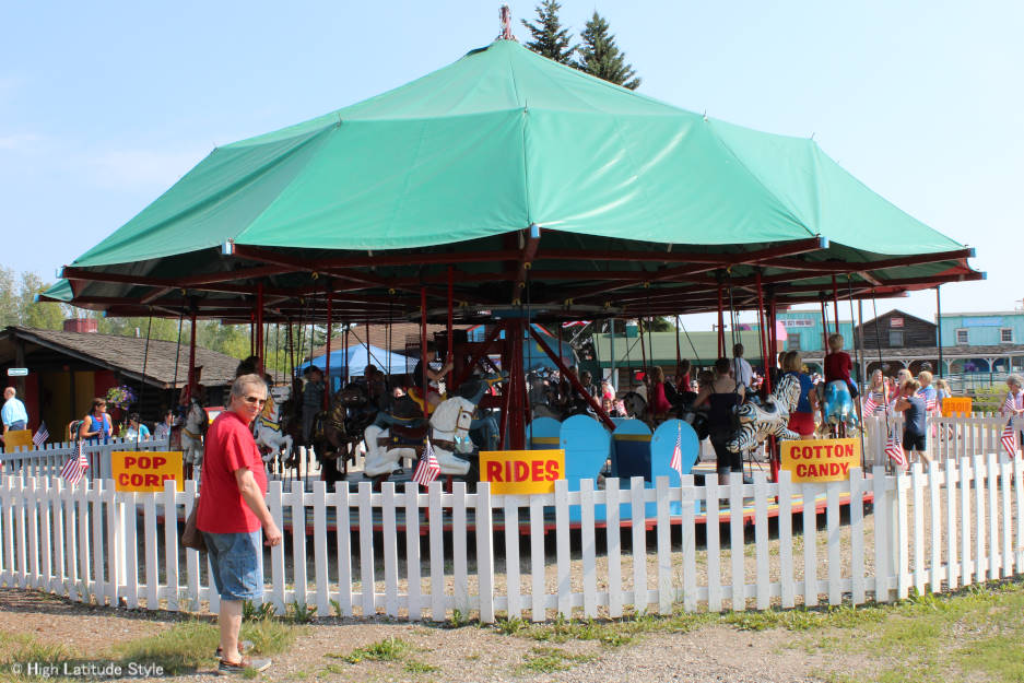 #Travel #Alaska old-fashioned merry-go-round in Pioneer Park, Fairbanks | High Latitude Style | http://www.highlatitudestyle.com
