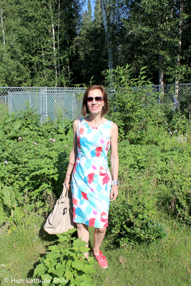 #fashionover40 #fashionover50 summer work outfit with Keds for Casual Friday