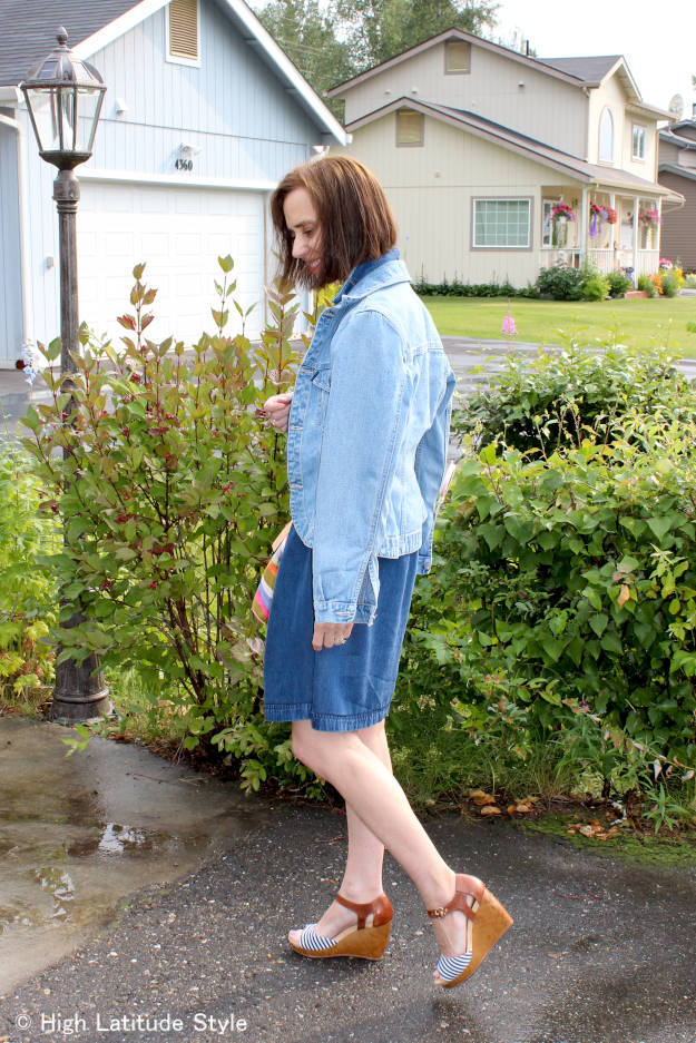 #fashionover40 #fashionover50 #denim-on-denim casual work outfit | High Latitude Style | http://www.highlatitudestyle.com
