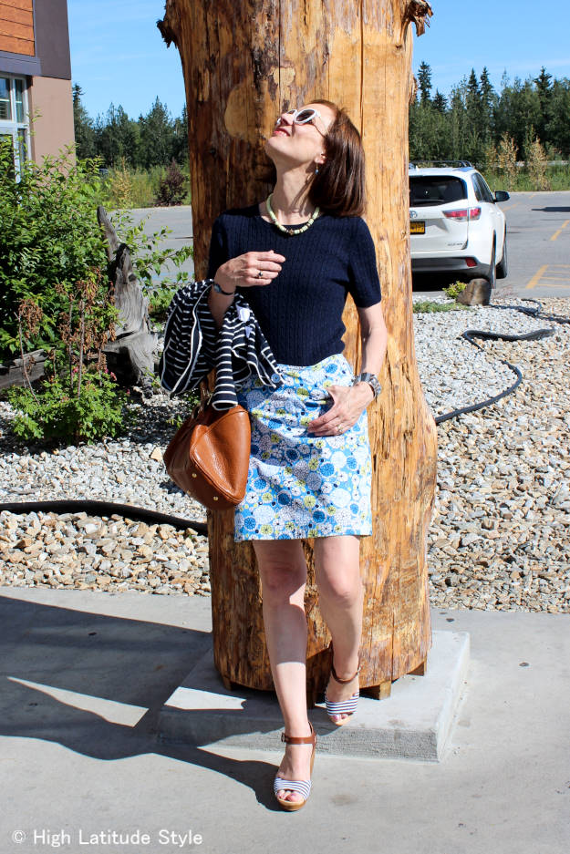 #fashionover40 #fashionover50 work outfit mixing pattern   High Latitude Style  http://www.highlatitudestyle.com