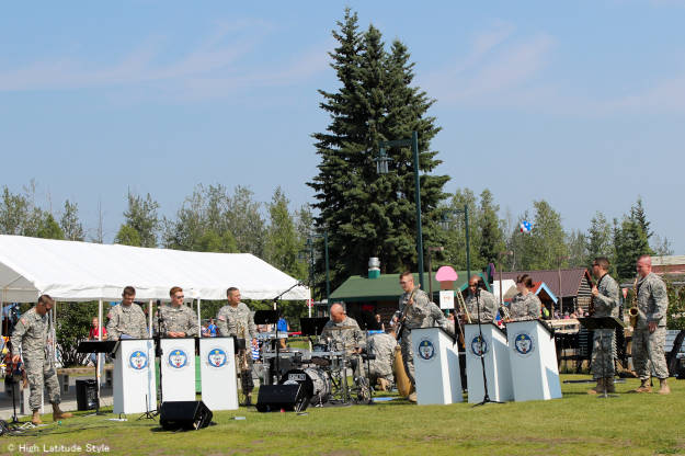 #PioneerPark #Alaska #travel Army band in Fairbanks' Pioneer Park | High Latitude  Style | http://www.highlatitudestyle.com