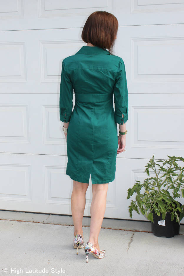 #fashionover40 #fashionover50 shirt dress for work | High Latitude Style | http://www.highlatitudestyle.com